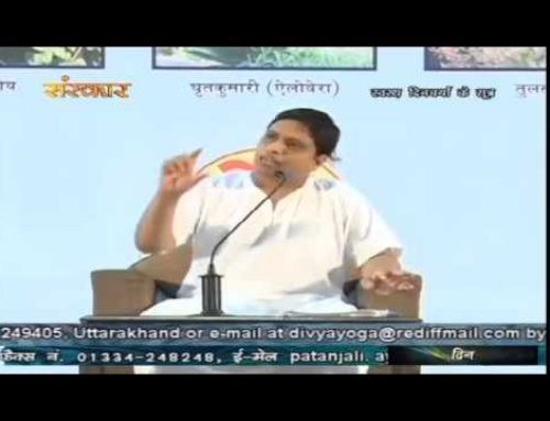Tips for healthy Lifestyle by Acharya Balkrishna at Patanjali Yogpeeth